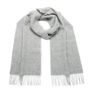 Barbour Women's Lambswool Woven Scarf - Light Grey