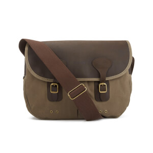 Barbour Men's Wax Leather Tarras Bag - Natural
