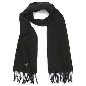 Barbour Men's Plain Lambswool Scarf - Black