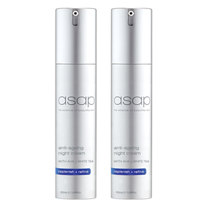 2x asap anti-ageing night cream