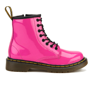 Dr. Martens Kids' Delaney Patent Leather Lace Boots - Hot Pink