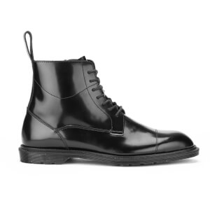Dr. Martens Men's Winchester Polished Smooth 7-Eye Zip Boots - Black