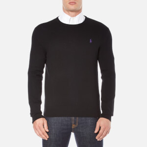 Polo Ralph Lauren Men's Crew Neck Merino Knitted Jumper - Polo Black