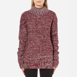 MINKPINK Women's Perfect Timing Skivvy Sweatshirt - Wine Marle