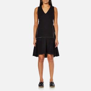 Karl Lagerfeld Women's Punto Dress With Zip Detail - Black