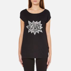 Karl Lagerfeld Women's Embellished Karl Pop T-Shirt - Black