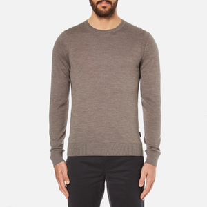 Michael Kors Men's Merino Crew Neck Jumper - Taupe
