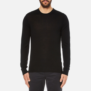 Michael Kors Men's Merino Crew Neck Jumper - Black