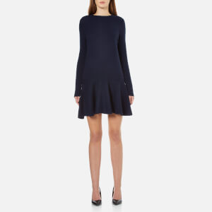 Ganni Women's Mercer Knitted Dress - Total Eclipse