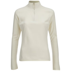 The North Face Women's 100 Glacier 1/4 Zip Fleece - Vintage White
