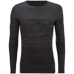 Produkt Men's Basket Contrast Graded Jumper - Dark Grey Melange