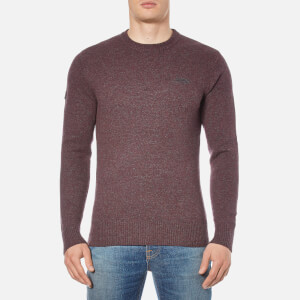 Superdry Men's Harrow Crew Jumper - Dark Port/Charcoal Twist