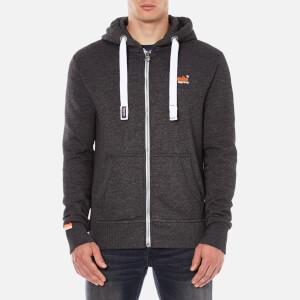 Superdry Men's Orange Label Zip Hoody - Lowlight Black Grit