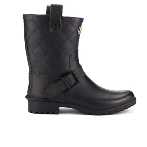 Barbour International Women's Matte Biker Wellington Boots - Black