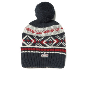 Superdry Men's Malmo Fairisle Beanie Hat - Dark Navy
