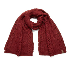 Superdry Women's North Cable Scarf - Dark Rust