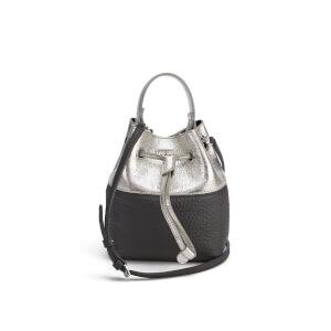 Furla Women's Stacey Mini Drawstring Bucket Bag - Lava/Silver