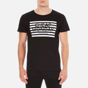Cheap Monday Men's Standard Striped Logo T-Shirt - Black