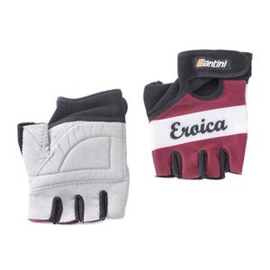 Santini Vino Eroica Race Gloves - Red