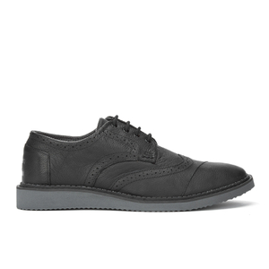 TOMS Men's Grain Leather Brogues - Black