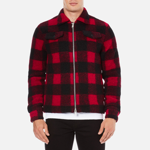 Wood Wood Men's Dale Checked Jacket - Biking Red Checks