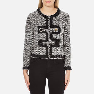 Boutique Moschino Women's Tweed Embellished Jacket - Black