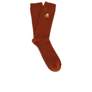 Folk Men's Single Socks - Rust