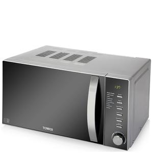 Tower T24007 800W Digital Microwave - Metallic