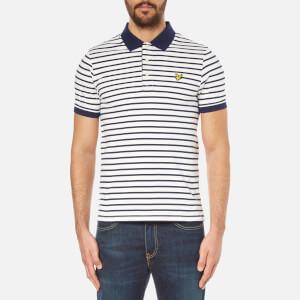 Lyle & Scott Men's Short Sleeve Breton Stripe Polo Shirt - Off White