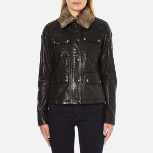 Belstaff Women's Attebury Leather Jacket - Black