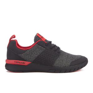 Supra Men's Scissor Static Mesh Running Trainers - Black/Charcoal