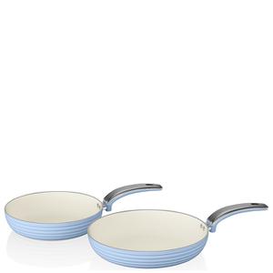 Swan Retro Frying Pans - Sky Blue (20cm/28cm)