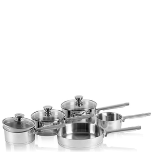Swan Pan Set with Pouring Spouts - Stainless Steel (5 Piece)