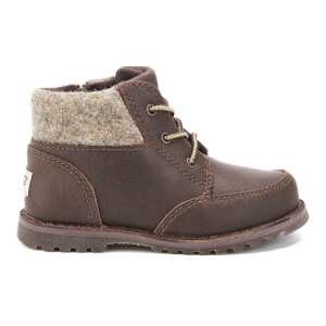 UGG Toddlers' Orin Wool Collar Boots - Chocolate