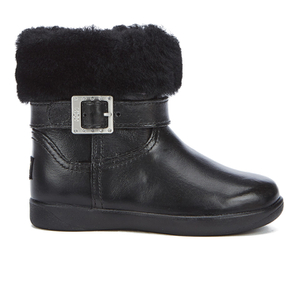 UGG Toddlers' Gemma Patent Leather Boots - Black
