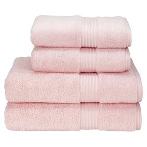 Christy Supreme Hygro 4 Piece Bath Towel & Bath Sheet Bundle - Pink