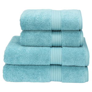 Christy Supreme Hygro 4 Piece Bath Towel & Bath Sheet Bundle - Lagoon