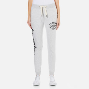 Superdry Women's Super Skinny Applique Joggers - Ice Marl