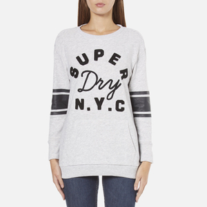 Superdry Women's Applique Pocket Crew Sweatshirt - Ice Marl