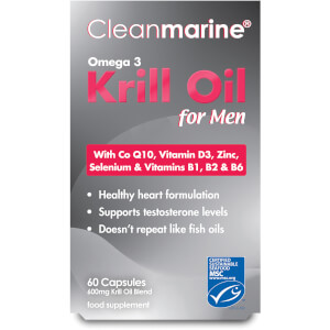 Cleanmarine Krill Oil for Men - 60 Gel Capsules (600mg)