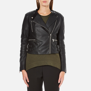 French Connection Women's Decade Biker Jacket - Black