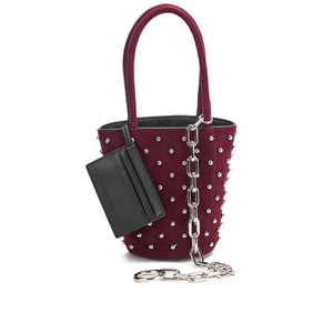 Alexander Wang Women's Roxy Mini Suede Bucket Bag with Studs - Beet