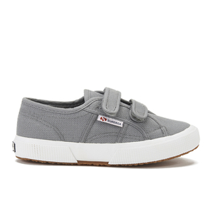 Superga Kids' 2750 Jvel Classic Velcro Strap Trainers - Grey Sage