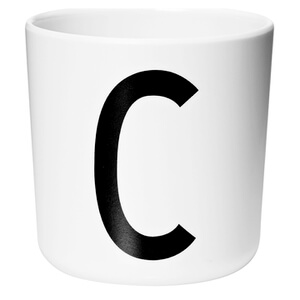 Design Letters Kids' Collection Melamin Cup - White - C