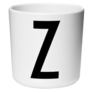 Design Letters Kids' Collection Melamin Cup - White - Z