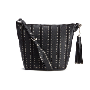 MICHAEL MICHAEL KORS Women's Brooklyn Eyelet Hobo Bag - Black