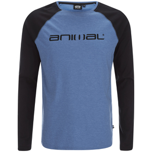 Animal Men's Action Raglan Long Sleeve Top - Royale Blue Marl