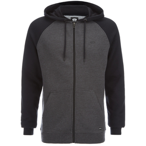 Animal Men's Jump Raglan Zip Through Hoody - Black