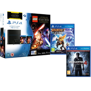 Sony PlayStation 4 1TB - Includes LEGO Star Wars: The Force Awakens, Star Wars: The Force Awakens, Ratchet & Clank + Uncharted 4