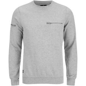 Threadbare Men's Chapel Crew Neck Sweatshirt - Grey Marl